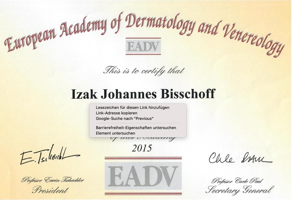 Zertifizierter Dermatologe Wien